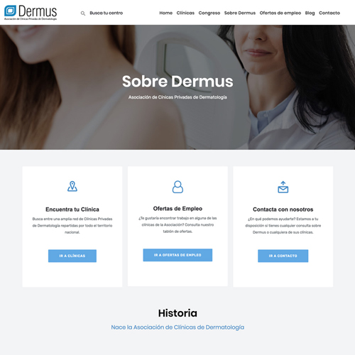 portfolio dermus 1 prev - Posicionamiento SEO y marketing online: Dermus