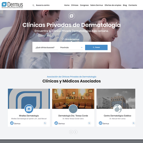 portfolio dermus 2 prev - Posicionamiento SEO y marketing online: Dermus