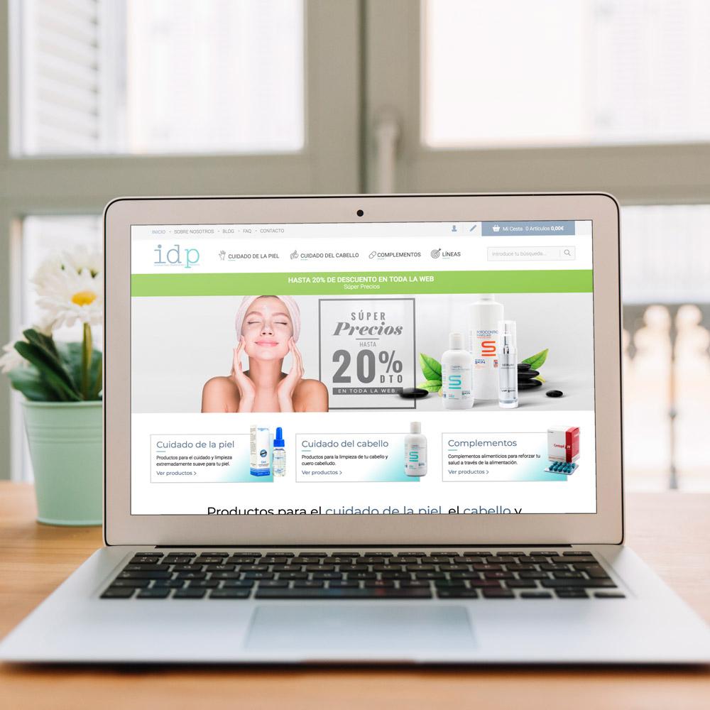 portfolio idp 0 - Diseño tienda online y marketing en Internet: IDP Dermocosmética