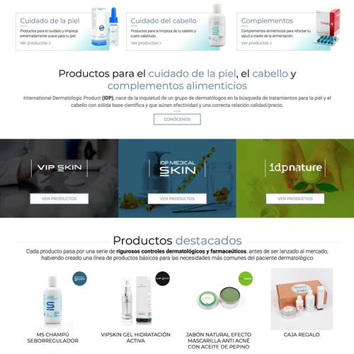 portfolio idp 1 prev - Diseño tienda online y marketing en Internet: IDP Dermocosmética