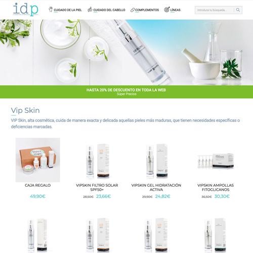 portfolio idp 4 prev - Diseño tienda online y marketing en Internet: IDP Dermocosmética