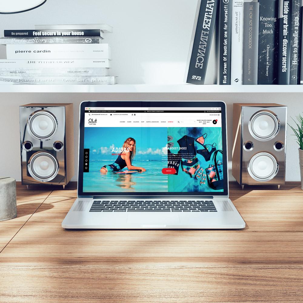 portfolio ole surf 0 - Diseño tienda online y marketing online: OleSurf