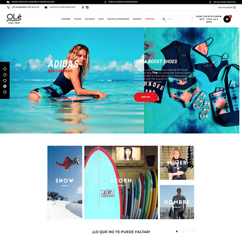 portfolio ole surf 5 prev - Diseño tienda online y marketing online: OleSurf